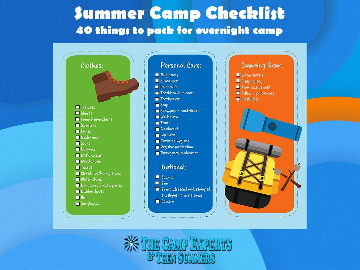 overnight summer camp checklist